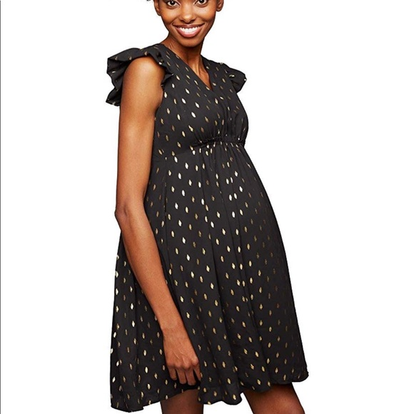 A Pea in the Pod Dresses & Skirts - A Pea in the Pod Black Babydoll Maternity Dress SM